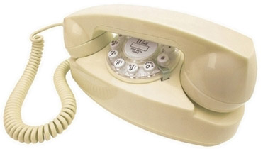 Retrotelefon Princess - Creme