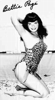 Strandtuch - Bettie Page