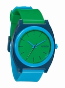 THE TIME TELLER P - Green / Blue / Navy - Nixon Uhr
