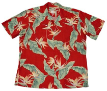 Original Hawaiihemd - Birds of Paradise - Rot - Paradise Found