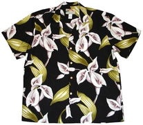 Original Hawaiihemd - Calla Lily - Schwarz - Paradise Found